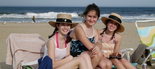 Summer, Kelly and Katie. OG beach. 2009. Paul Goldfinger portrait. ©