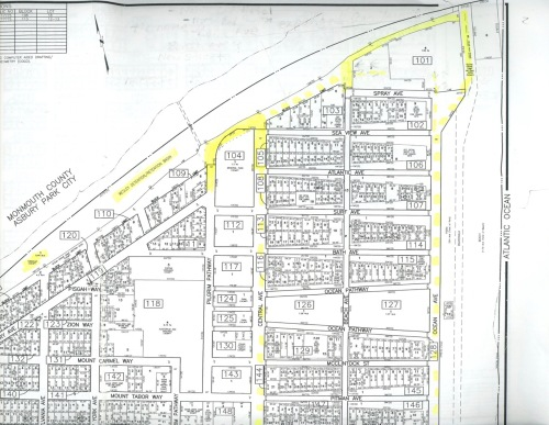 Neptune Township tax map, 2014. The official map of Neptune Twp.