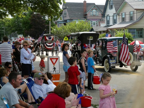 July 4 parade in Ocean Grove, NJ. 2009 photograph by Paul Goldfinger © click to enlarge.