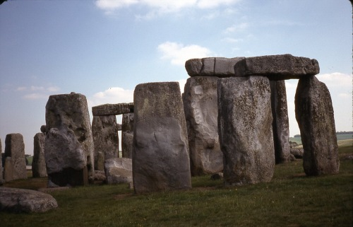 This prehistoric monument is from about 3000 bc, (before cooking) and is in Wiltshire, England. Back then they would put up crepe paper and hold proms there, long before slow dancing was invented. Paul Goldfinger photo ©