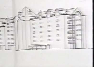 Concept drawing 1986 of South End condo project, 7 stories.