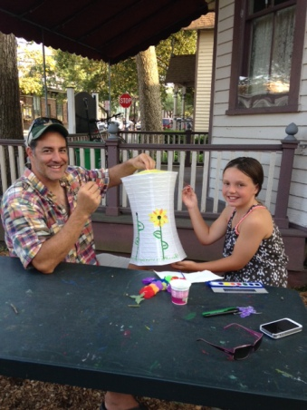 Painting lanterns for the 2014 Illumination night. Paul Goldfinger photo © at the Hub.