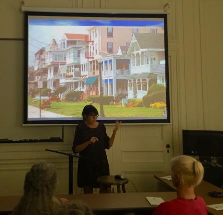 Karen Schmelzkopf, Ph.D. speaks about Ocean Grove at Monmouth U. Blogfinger photo 7/27/16 ©
