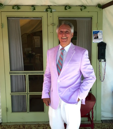 Ronald Naldi about to leave for a concert in Ocean Grove.  2015. Paul Goldfinger portrait.
