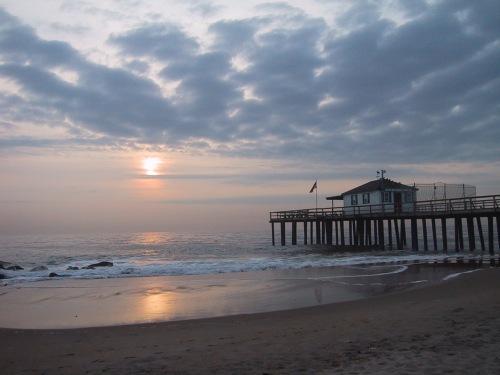 Ocean Grove Fishing PIer, pre-Sandy. Paul Goldfinger photo ©