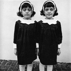 Twins.  Roselle, NJ. By Diane Arbus.