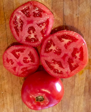Flavorwise, Matt's tomatoes were very good at 8/10 compared to Wegmans 10/10 from two days ago. Blogfinger photo in OG
