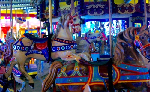 Carousel at Seaside Heights--Exit 82. Did someone say carousel? Send in the clowns. Paul Goldfinger photo