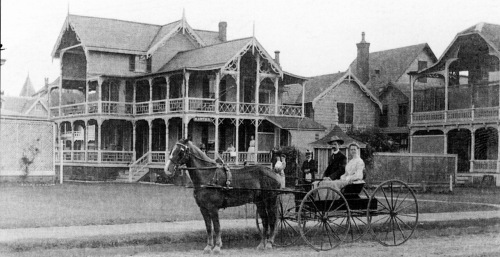 "OG 1903. Mrs. Wilhelm named her summer cottage (shown in photo) ""Martha."" Now you know where Muriel's manure pile came from. Photo from Wayne T. Bell's Images of America: Ocean Grove. ©"