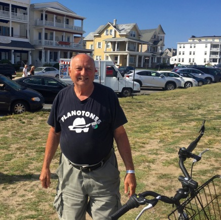 Perry Young. Sept. 4, 2016. Ocean Grove near the boardwalk. Paul Goldfinger photo. . ©