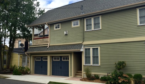 Another cure:  Build a two car garage  (this one is on Whitfield near Abbott)  Blogfinger photo
