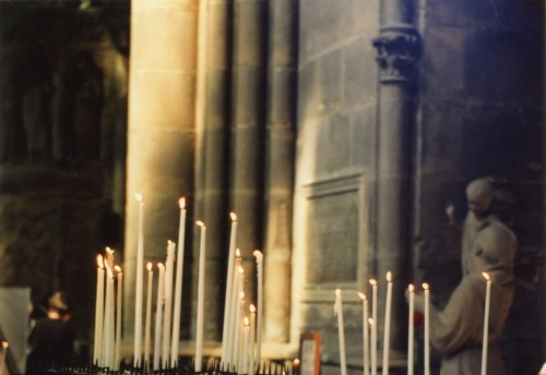 Paris. Candles in a place of quiet refuge. By Paul Goldfinger ©