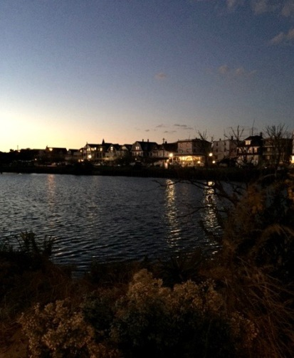Fletcher Lake. Ocean Grove as seen from the Bradley Beach side. By Stephen Goldfinger, Blogfinger staff. ©