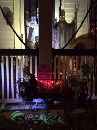 Stephen Goldfinger, Blogfinger staff, found this house of horrors on Main Avenue, near Main Street. Oct. 30, 2016. ©