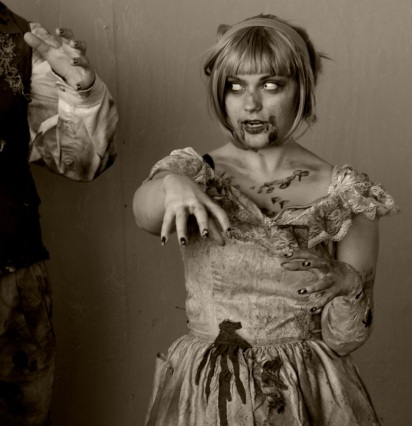 This Zombie was photographed 2 years ago in A.Park, but now we bring her back to the Grove. Paul goldfinger portrait. ©
