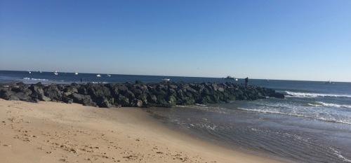 Ocean Grove beach. 9:30 am on Friday, Nov. 11, 2016. Blogfinger photo ©