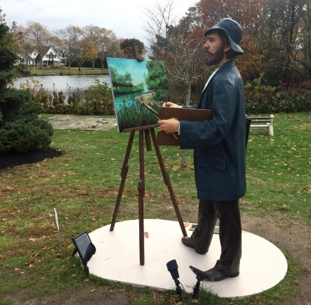 """Monet, Our Visiting Artist."" Seward Johnson 11/16/16 Blogfinger photo ©"