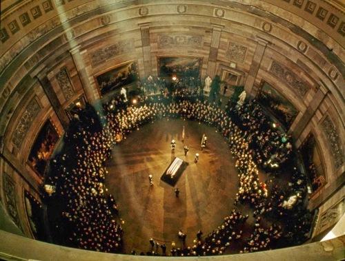 Capital rotunda where Mike Mansfield gave a eulogy for Pres. John F. Kennedy. Nov. 24, 1963.