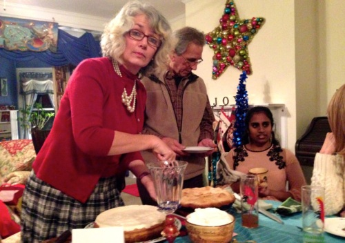 Miss Pegi bakes four and twenty blackbirds into a pie.  2014  Blogfinger photo. ©