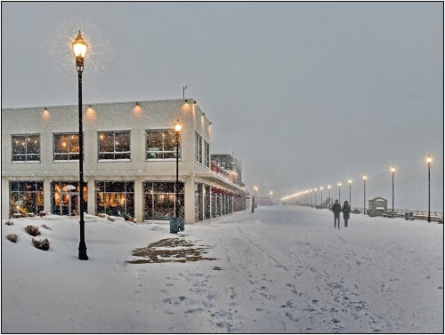 Asbury Park boardwalk near the Casino looking north. Photograph by Rich Despins of B. Beach. Special to Blogfinger ©
