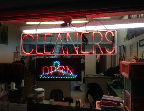 Did anyone ever take you to the cleaners? Paul Goldfinger photograph. Ocean Township. c2014. ©