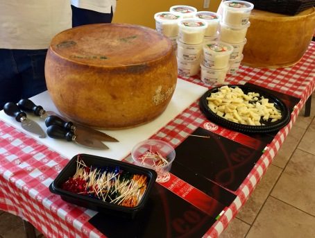Parmagiano cheese wheel at Mario's Italian market in Fort Myers, Fla. 1/27/16. Blogfinger.net photo. ©
