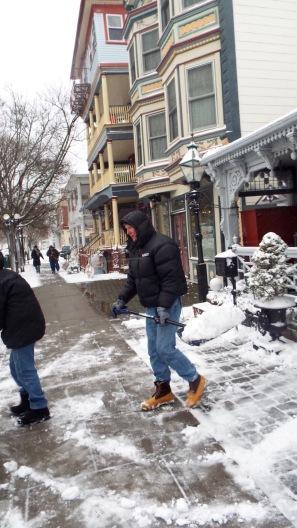 Jean Bredin around town on Main Avenue. Wednesday Feb 9, 2017