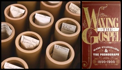 """Heath's trove of wax cylinder recordings purchased by Michael Devecka in 1993, left, and the cover of Grammy-nominated """"Waxing the Gospel."""" (Michael Devecka collection and Bobby Olivier) Photo from NJ.com ©"""