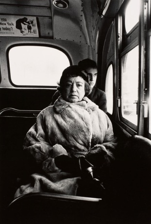 """Lady on a Bus"" 1957,by Diane Arbus. From the Merropplitan Museum of Art Collection."