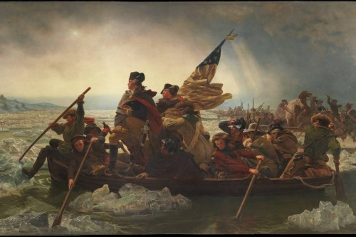 Washington Crossing the Delaware. By Emanuel Leutze, American, 1851.