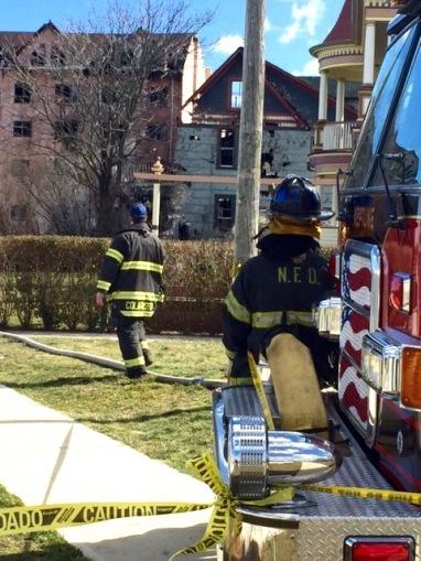 La Pierre is on the left. Burned-out house adjacent. Stephen Goldfinger photo. Blogfinger staff. © 3/3/17.