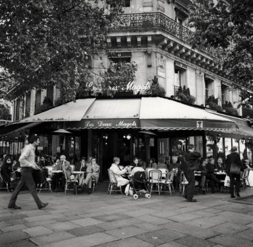 Cafe Deux Magots is in the Saint-Germain area of Paris' Left Bank.  Paul Goldfinger photo ©