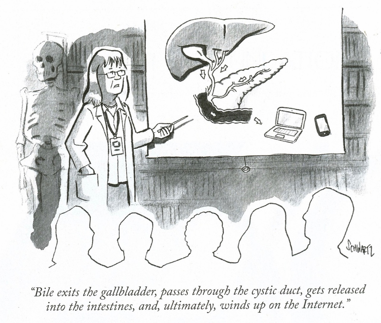 The anatomy lesson from the New Yorker and a Dutch master. | Blogfinger