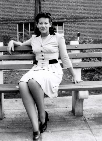 Jersey City, c.1943. Myrna Goldfinger (Paul's mom). Photographer Aunt Jean.