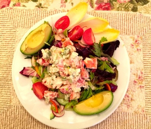 Eileen's Lobster Salad. Photo by Eileen Goldfinger ©