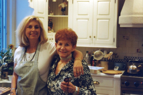 Eileen (left) and Myrna Goldfinger. Chester, NJ. c.1995.