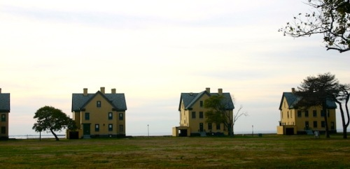 THREE LITTLE HOUSES AT SANDY HOOK