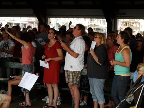 Gospel Service in Pavilion July 2009