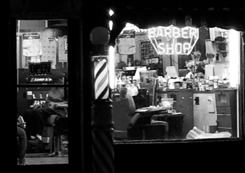 Asbury Park barber shop. By Moe Demby ©