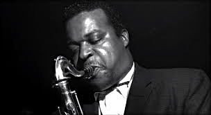 Gene Ammons with his tenor sax.